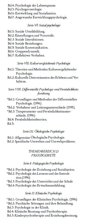Classification Of Psychology IEKO